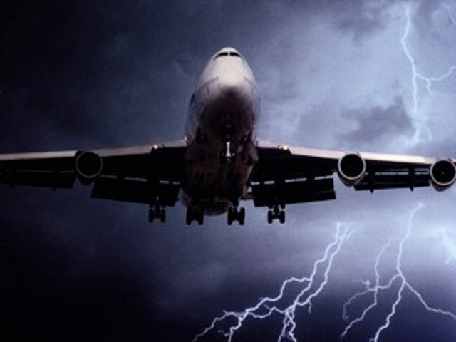Plane and Lightning