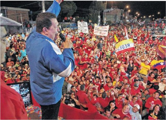 Yang Mulia Presiden Venezuela Hugo Chavez Nasionalis Rakyat
