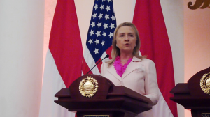 """...Calon Presiden Amerika Serikat, Mrs Hillary Clinton..."" Photo By : Red. NRMnews.com"