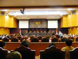 """...Suasana Ruang Sidang Pleno di Gedung Mahkamah Konstitusi, Jakarta..."" Photo By : Red NRMnews.com"