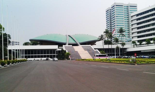 """...Gedung MPR / DPR / DPD Republik Indonesia di Jakarta..."" Photo By : Red NRMnews.com"