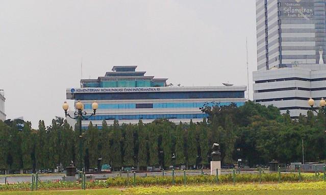 """...Gedung Kantor Kementerian Komunikasi dan Informatika RI, di Jakarta..."" Photo By : Red NRMnews.com"