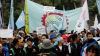 """...Suasana Aksi Demo Buruh di Indonesia..."" Photo By : Red NRMews.com"