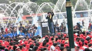"""""""...Ilustrasi Aksi Unjuk Rasa para Buruh, Sampaikan Tuntutan Kepada Pemerintah..."""" Photo By : Red NRMews.com"""