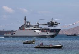 """...Ilustrasi Kapal Perang RI..."" Photo By : Puspen TNI"