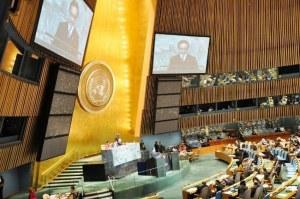 """""""…Ilustrasi Sidang Majelis PBB New York A.S…"""" Photo By : NRMnews.com"""
