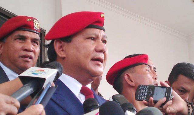 """...Ketua Dewan Pembina Partai Gerindra, Prabowo Subianto..."" Photo By : Red. NRMnews.com"
