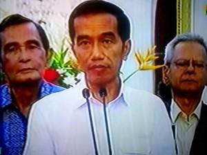 """""""...Presiden Joko Widodo saat Memberikan Keterangan Persnya,  di Istana Negara Jakarta,..."""" Photo By : Red. NRMnews.com"""