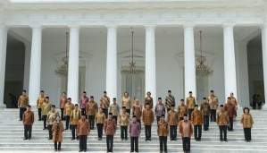 """...Jajaran Menteri dalam Kabinet Kerja Jokowi-JK..."""