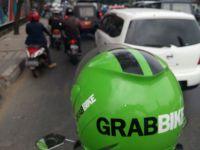 """""""...Ilustrasi pengemudi ojek online dar perusahaan Grabbike..."""" photo by NRMnews.com"""