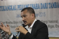 """...Direktur Energy Watch Indonesia, Ferdinand Hutahaen..."" Photo By : Red.NRMnews.com"