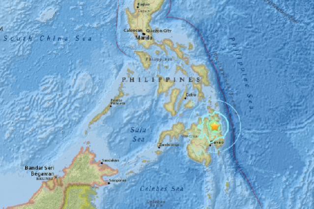 """""""...Lokasi gempa yang mengguncang Filipina..."""""""