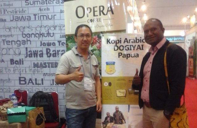 """""""....Kopi Dogiyai yang Saat Dipamerkan pada Ajang TEI (Trade Expo Indonesia) 2016...."""" Photo By : Red.NRMnews.com"""