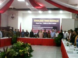 """""""...Para Hadirin Peserta bersama Rachmawati Soekarnoputeri, saat Digelarnya Konsolidasi Tokoh Nasionalis, yang dianggap sebagai upaya makar.."""" Photo By : Red.NRMnews.com"""