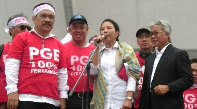 """...Aksi FSPPB Menolak Akuisisi PGE Oleh Pihak Lain..."" Photo By : Red.NRMnews.com"