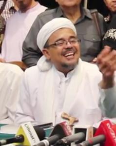 """""""...Imam Besar FPI, Habib Rizieq Shihab..."""" Photo By : Red.NRMnews.com"""