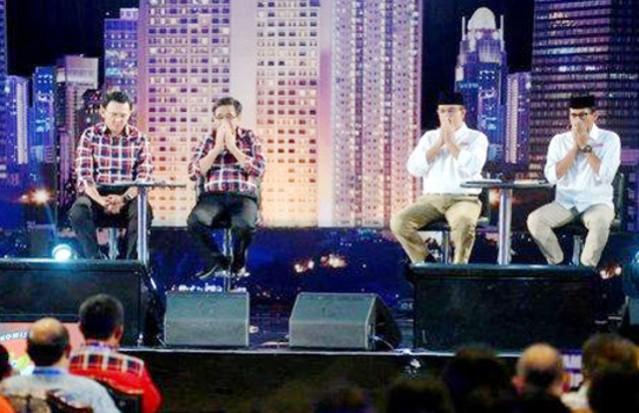 """...Paslon Cagub - Cawagub DKI Jakarta dalam Acara Debat Pilkada..."""