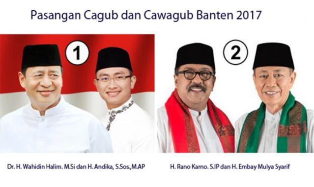 """...Pasangan Cagub dan Cawagub Provinsi Banten..."""