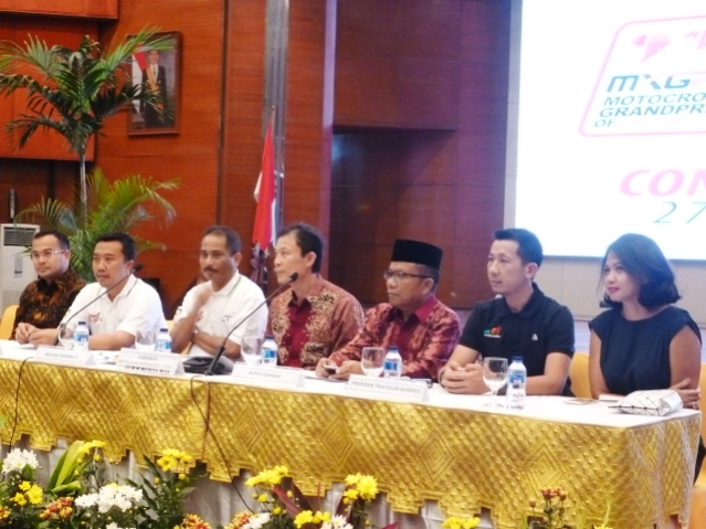 """...Menteri Pariwisata Arief Yahya, pada Acara Presscon INDO MXGP Championship 2017 di Kementrian Pariwisata Jakarta, Senin (27/02/2017)..."" Photo By : Red.NRMnews.com"