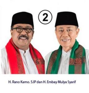 """...Pasangan Cagub dan Cawagub Provinsi Banten, Nomor Urut 2, Rano Karno – Embay Mulya Syarief...."""